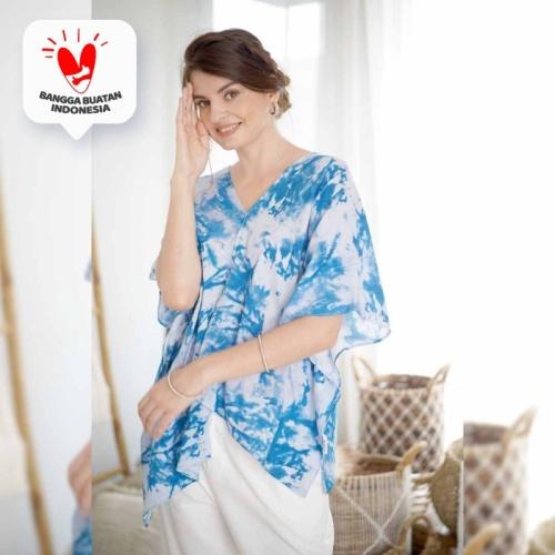 Foto Produk Mauri Blouse Beatrice Clothing (Blouse Motif Tie Dye) - Paint Blue dari Beatrice Clothing