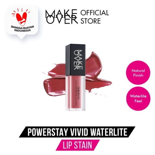 Foto Produk MAKE OVER Powerstay Vivid Waterlite Lipstain - A03 Kiss Bang dari Make Over Official Shop