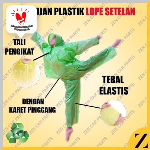 Foto Produk Jas Hujan HDPE Plastik Setelan Baju Celana Raincoat Kualitas Bambu - Random dari Zen Car Parts