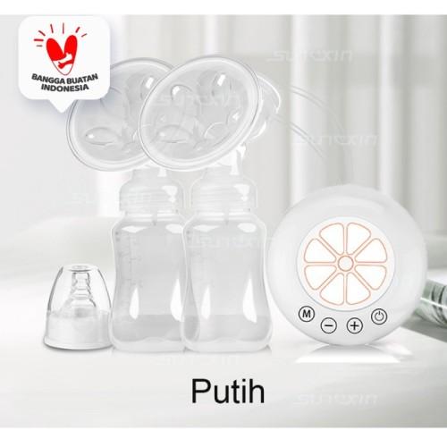 Foto Produk Pompa Asi Elektrik Ganda / Double Electric Breast Pump / Fungsi Pijat - Putih dari SUNXIN