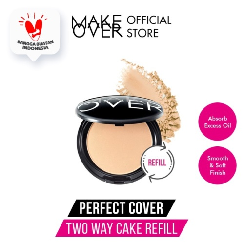 Foto Produk MAKE OVER Refill Perfect Cover Two Way Cake - 01 Lace dari Make Over Official Shop