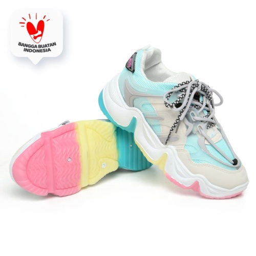 Foto Produk PVN Sepatu Sneakers Wanita Hologram Import Sport Shoes Putih 111 - Tosca, 39 dari PVN Official Store