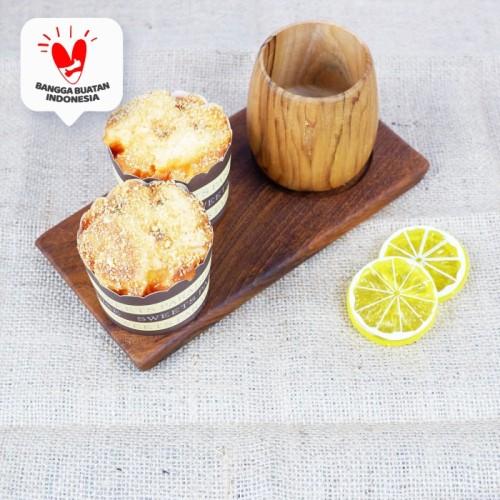 Foto Produk Bharat   tatakan gelas tray kayu hotel restaurant dapur saji coaster dari Mendekor