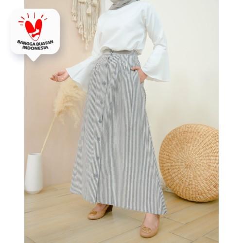 Foto Produk Rok Korean Stripe (Skirt Only) - Misty Stone dari DRESSSOFIA