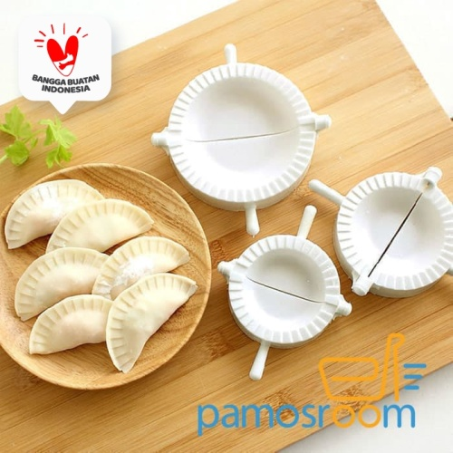 Foto Produk 3 IN 1 Cetakan Kulit Pangsit / Pastel Alat Pembuat / Dumpling Mould Se dari Pamosroom Living