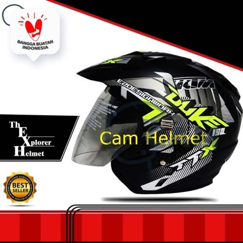 Foto Produk Helm motor sni 2 kaca Duke Yellow double visor bukan kyt nhk gm bxp dari Boss helm