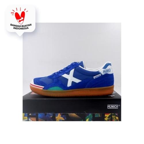 Foto Produk Sepatu Futsal Munich Gresca 03 Blue White 3000605 Original BNIB - 43 dari KING OF DRIBBLE