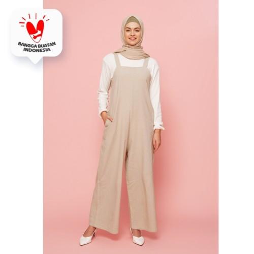 Foto Produk Lilac Line Jumpsuit - Cream dari Lozyhijab