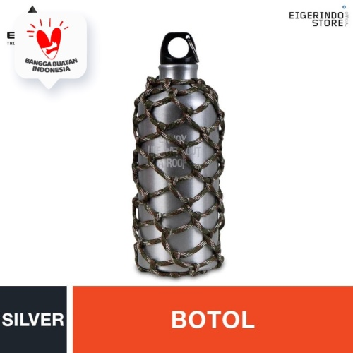 Foto Produk Eiger 1989 Campers Paracord Water Bottle - Silver dari Eigerindo Store