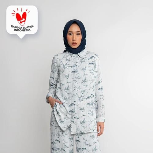 Foto Produk JENAHARA Basic Shirt White-Navy - White-Navy, XL dari JENAHARA OFFICIAL