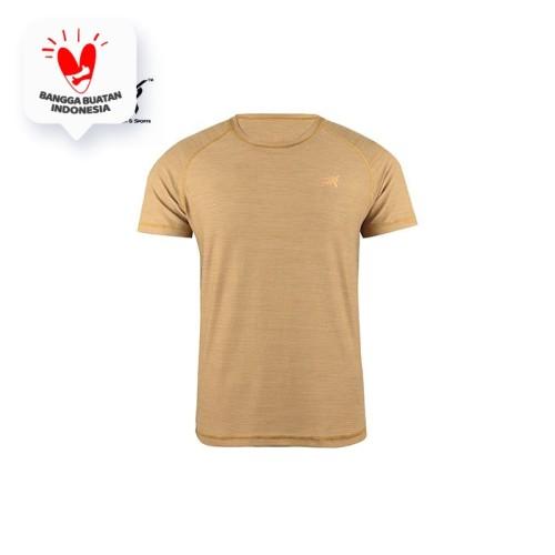 Foto Produk Running Jersey - DK Basic Color Tee Man Gold - S dari Duraking Outdoor&Sports