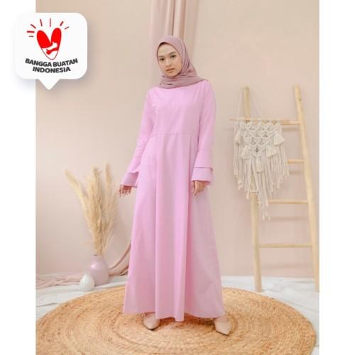 Foto Produk Gamis Alesha Maxidress - Pink dari DRESSSOFIA
