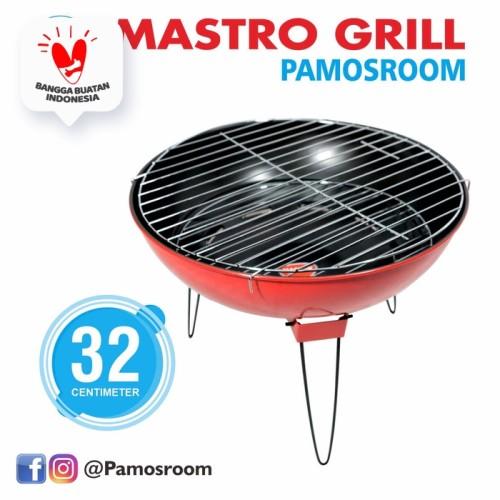 Foto Produk Maspion Mastro Grill Uk.32cm / Alat Panggang Non Stick Uk.32cm dari Pamosroom Living