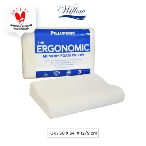 Foto Produk Bantal Memory Foam Ergonomic / Willow Pillopedic Ergonomic Small dari Willow Pillow