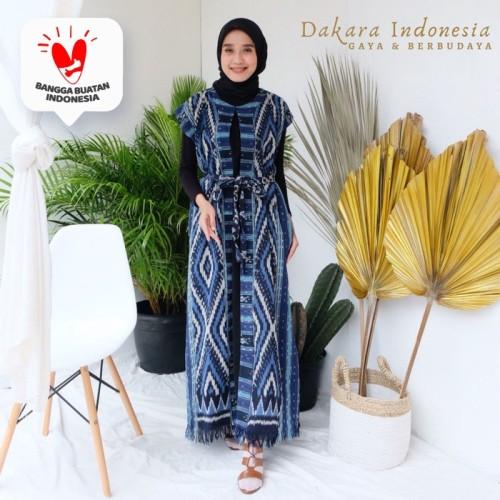 Foto Produk Gamis Dress Etnik Tenun Ikat - Dakara Indonesia dari Dakara Indonesia