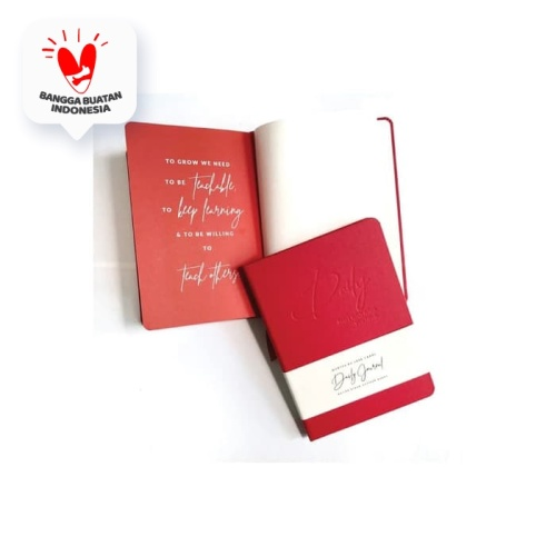 Foto Produk Daily Journal (Notebook) Jose Carol (Unlined Pages) Red dari Insight Unlimited
