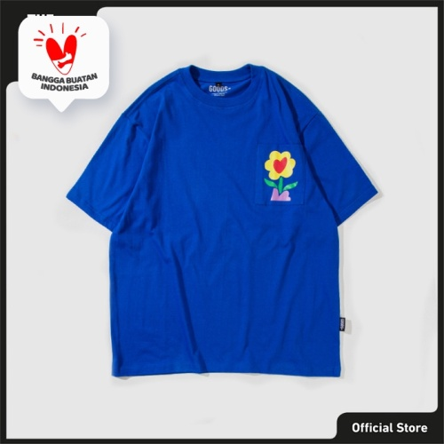 Foto Produk The Goods Dept Kaos Pria - GOOD FLEUR S/S - Biru, S dari The Goods Dept