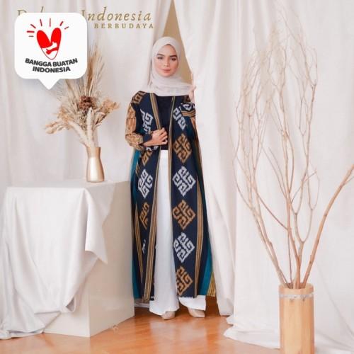 Foto Produk Outer Gamis Ethnic Tenun Ikat - Dakara Indonesia dari Dakara Indonesia