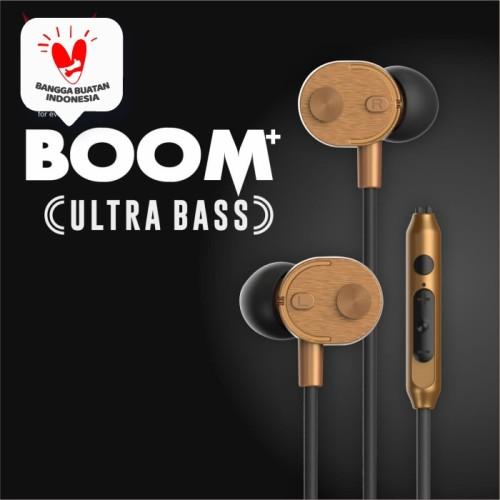 Foto Produk VYATTA BOOM Earphone / Headset / Handsfree - ULTRA BASS - Gold dari VYATTA INDONESIA