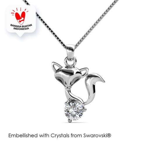 Foto Produk Fox Pendant - Kalung Crystal Swarovski® by Her Jewellery - Rose Gold dari Her Jewellery