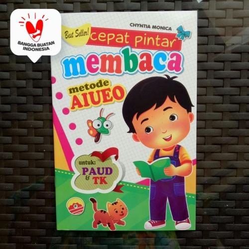 Foto Produk Buku Anak TK PAUD - Cepat Pintar Membaca Metode AIUEO, belajar membaca dari ALIDA