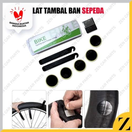 Foto Produk Alat Tambal Ban Sepeda Reparasi Bicycle Tire Repair Tool kit Paket DIY dari Zen Car Parts