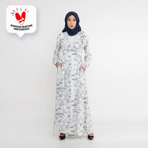 Foto Produk JENAHARA Dress with Blazer Neckline - White Navy - White-Navy, L dari JENAHARA OFFICIAL