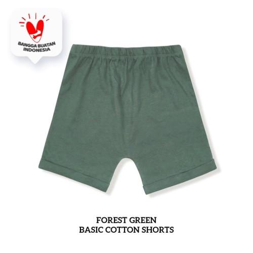 Foto Produk BIG SIZE GIRL Basic Cotton Short (Celana Pendek Anak) - FOREST GREEN, 9 Years dari Little Palmerhaus
