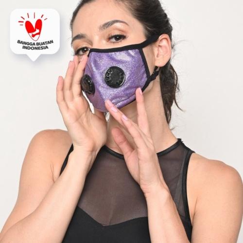 Foto Produk Masker Bowin N99 CV Masker Kesehatan Sertifikasi ISO - Ungu dari JMC Helmet
