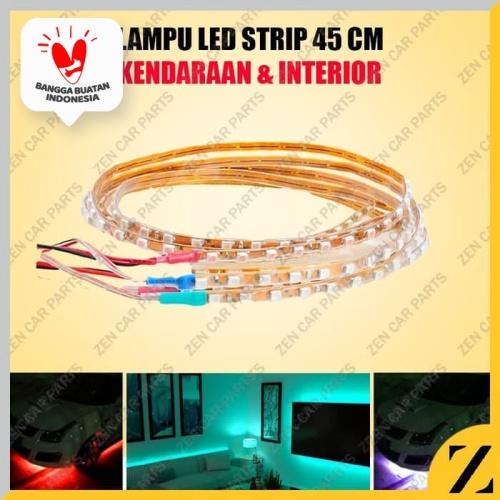 Foto Produk Lampu LED Alis Strip Cumi 45 CM Flexible Serbaguna Waterproof Terang - Biru dari Zen Car Parts
