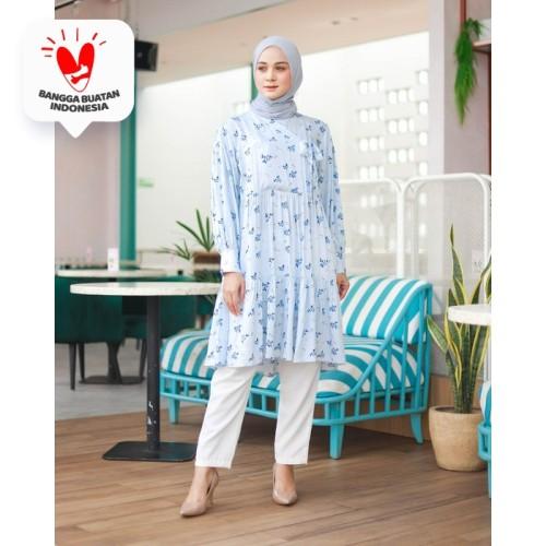 Foto Produk Tunik Muslim Hanbok Jasmine By DRESSSOFIA - Biru Muda, M dari DRESSSOFIA
