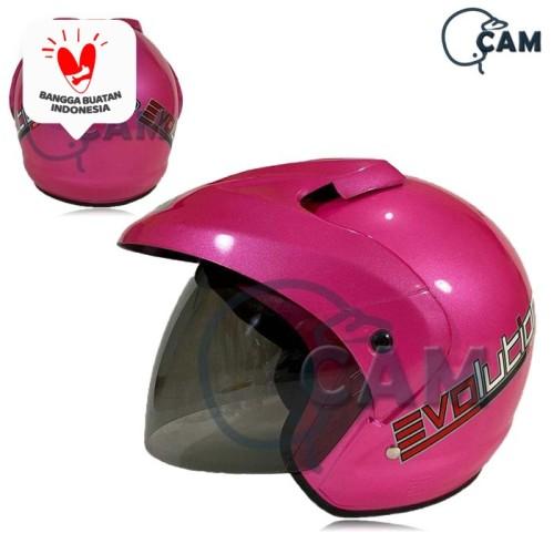 Foto Produk Helm SNI pluto polos Murah bukan jpx ink nhk - Merah Muda dari Boss helm