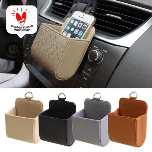 Foto Produk Organizer ac mobil kotak hp holder koin barang e toll kartu card - Hitam dari Zen Car Parts