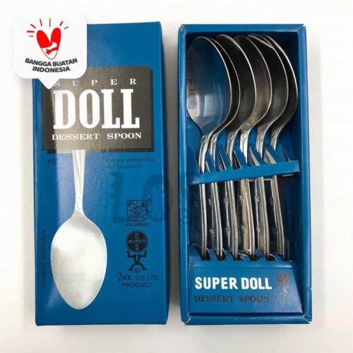 Foto Produk Super Doll Sendok Makan Stainless Steel Isi 6 pcs dari Home-klik