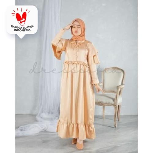 Foto Produk Gamis Muslim Vagabond Maxidress Gold dari DRESSSOFIA