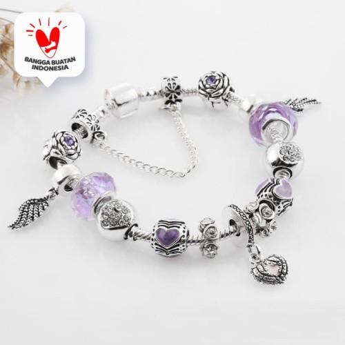 Foto Produk Angel Charm Bracelet Gelang Kristal Swarovski Crystals from Swarovski - Purple dari Her Jewellery