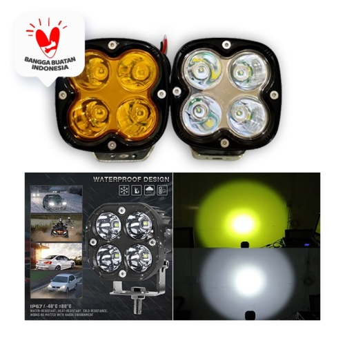 Foto Produk LAMPU TEMBAK SOROT LED CREE 40W CWL 4 MATA LED WORKLIGHT 40W CREE CWL - Putih dari Modifikasi Market