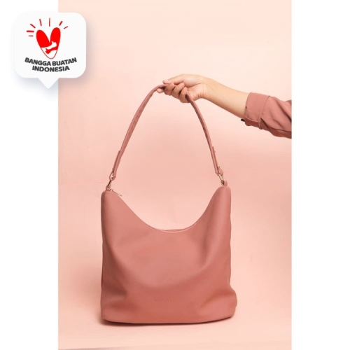 Foto Produk Tas Wanita Tote Bag Hobo Dusty PInk Merche dari Merche Id
