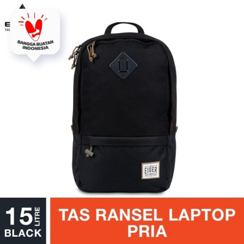 Foto Produk Eiger 1989 Safar Laptop Backpack 15L - Black dari Eigerindo Store