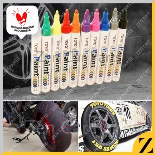 Foto Produk Spidol Ban toyo paint marker Sa101 original import E012 - Biru dari Zen Car Parts