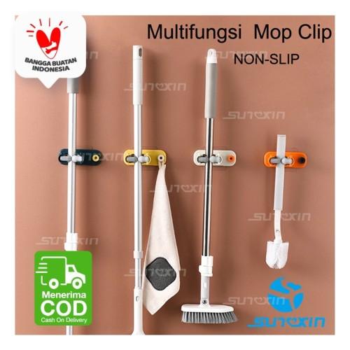 Foto Produk Klip Gantungan Penjepit Sapu Kain Pel 1SET ISI(4PCS)/ Mop Broom Holder dari SUNXIN