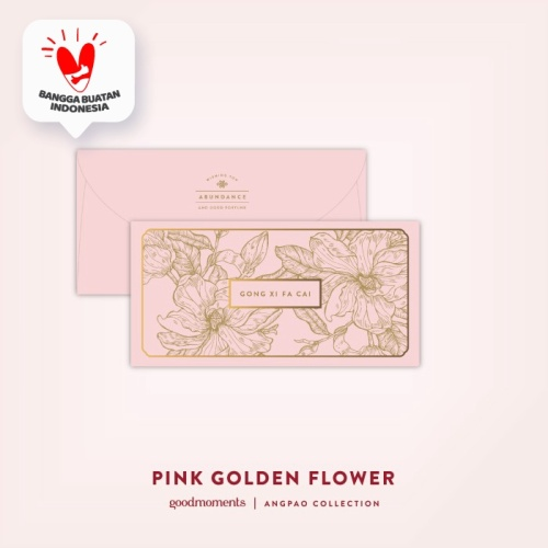 Foto Produk Pink Golden Flower Angpao (1pack 8pcs) dari Insight Unlimited
