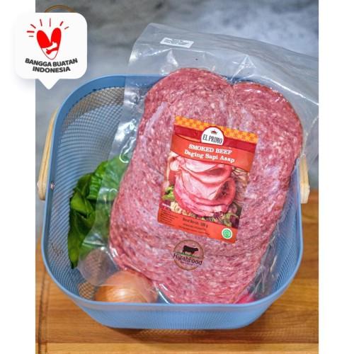 Foto Produk Smoked Beef Ham Sliced Round / Daging Sapi Asap Bulat (Qty. 500 gr) dari Hijrahfood Meatshop