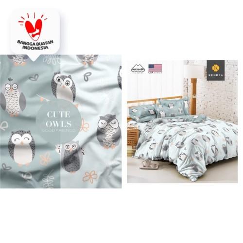 Foto Produk Sprei Kendra Ukuran 180x200 - Cute Owls Grey USA Design dari INstore