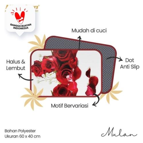 Foto Produk Kintakun Keset Cantik Lembut Anti Slip Dekorasi Rumah 60x40cm - Mulan dari Home-klik