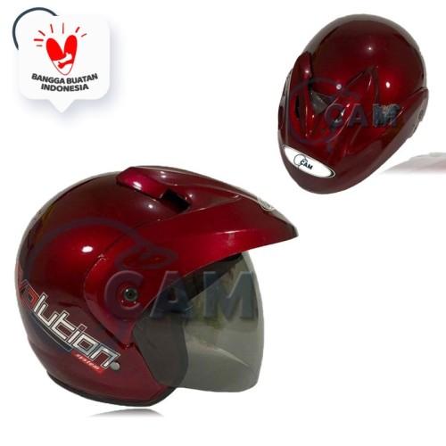 Foto Produk Helm SNI pluto polos Murah bukan jpx ink nhk - Merah dari Boss helm