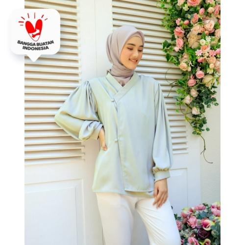 Foto Produk Blouse Top Hanbok Jennie By DRESSSOFIA - Hijau, M dari DRESSSOFIA