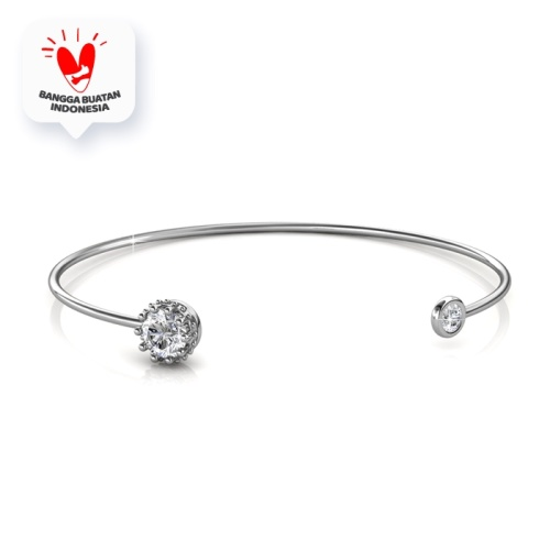 Foto Produk Crown Bangle - Gelang Crystal Swarovski® By Her Jewellery - White Gold dari Her Jewellery