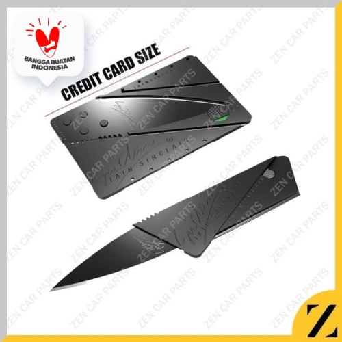 Foto Produk Pisau Lipat Kartu Sinclair Cardsharp Hidden Knife Sinclair Non Packing dari Zen Car Parts