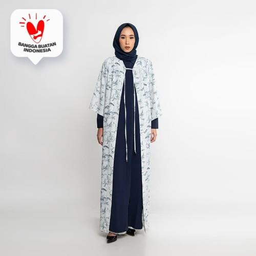 Foto Produk JENAHARA Maxi Printed Outer White - White, XL dari JENAHARA OFFICIAL